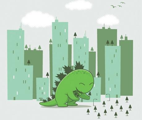 Estampa de meio-ambiente, natureza, presenvação e animais. (18)