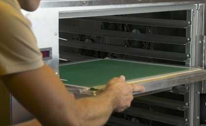 cabine de secagem de emulsão para confecção de matrizes serigráficas