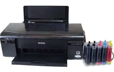 Foto de uma impressora com bulk sublimático.