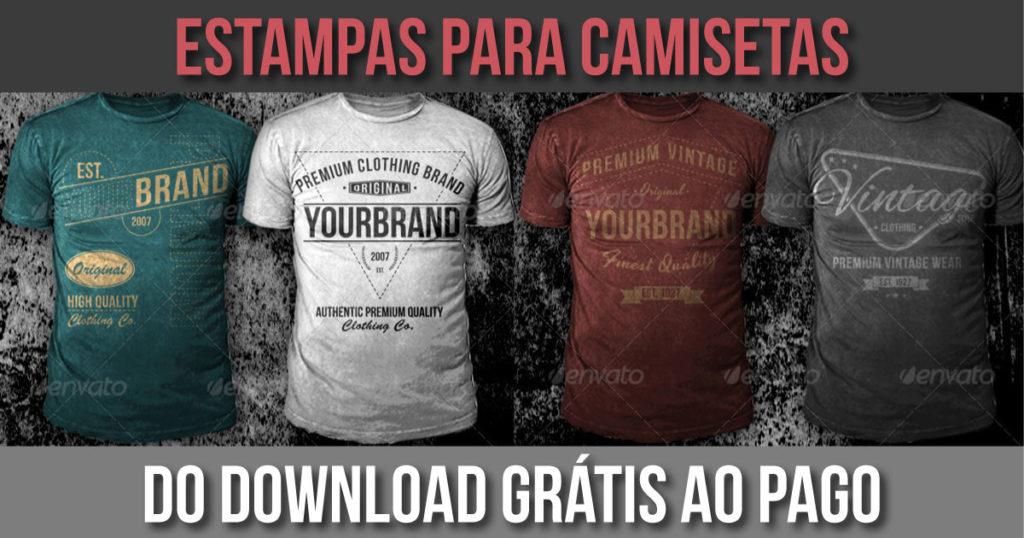 Estampas grátis para camisetas - opções gratuitas e pagas