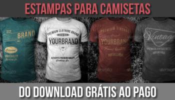 Estampas grátis para camisetas - opções gratuitas e pagas para download