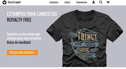 Onde comprar artes ou estampas já impressas para camisetas