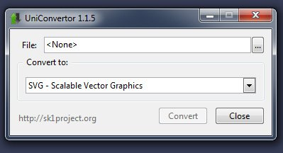 UniConvertor converter arquivo cdr corel