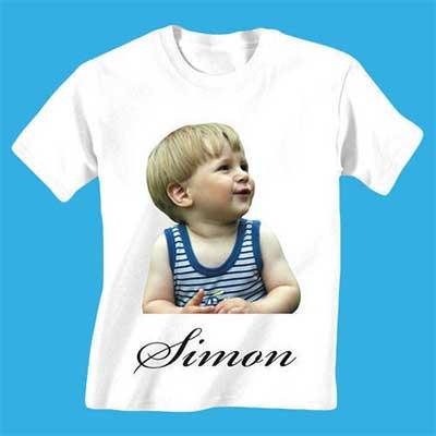Camiseta Sublimada com foto de criança