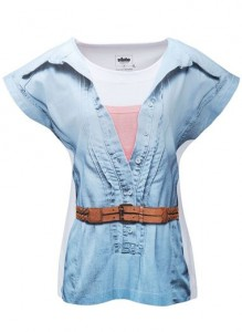 T-shirt feminina com estampa sublimada