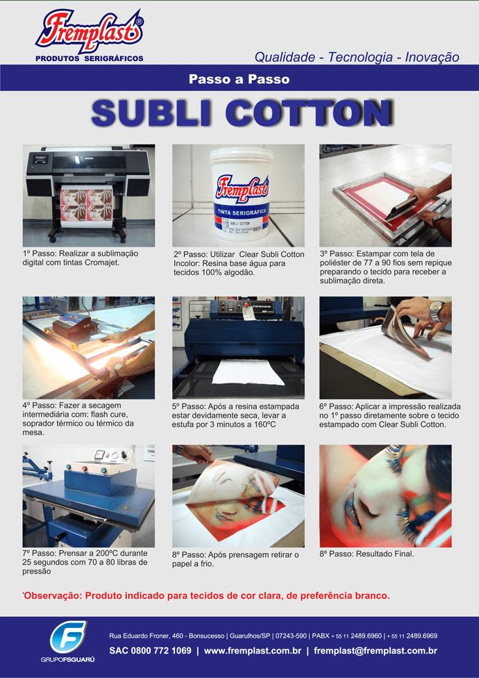 Sublimar algodão agora é possível com esta resina.