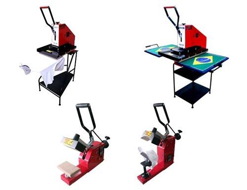 Máquina de sublimação: prensa térmica.