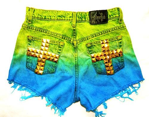 shorts bermuda tie dye