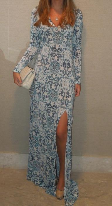 Tigresse vestido com estampas porcelanas