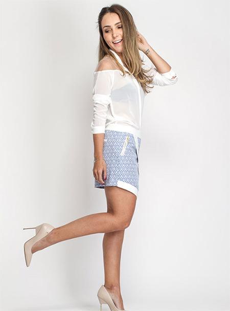 short saia estampa arebescos