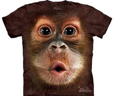 Camisa 3D com estampa de macaco.