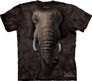 Camiseta rosto animal elefante.