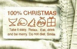 Etiqueta com recomendações para o Natal.