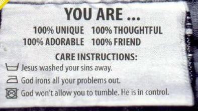 etiqueta evangelica gospel