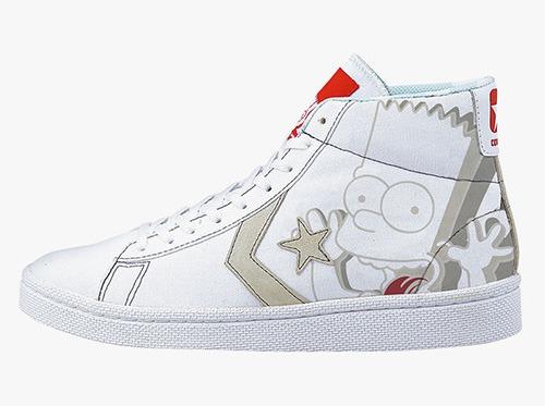 Tênis com a estampa do Bart Simpson