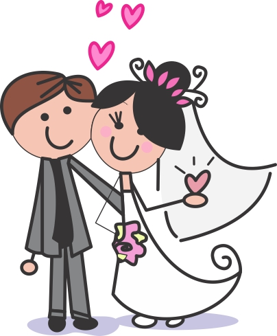 Vetor Noivos Casamento