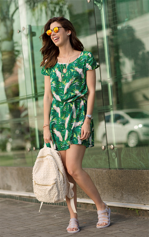vestidos estampados como usar e combinar