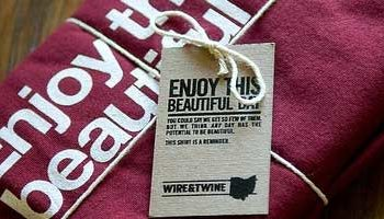 Embalagens criativas para camisetas