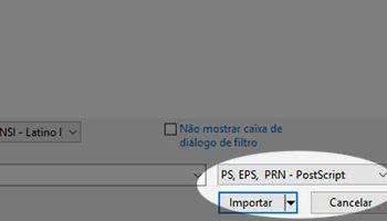 Abrir arquivos CDR, AI e EPS no CorelDraw e Adobe Illustrator.