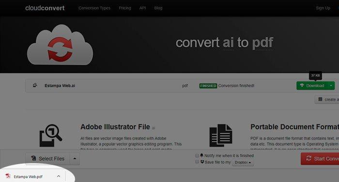 Passo 8 - Abra seu arquivo AI sem precisar instalar o Adobe Illustrator