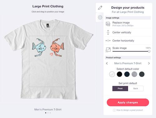 imprimir e estampar camisetas pela internet