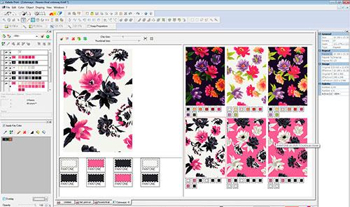 programa Kaledo Collection para design têxtil