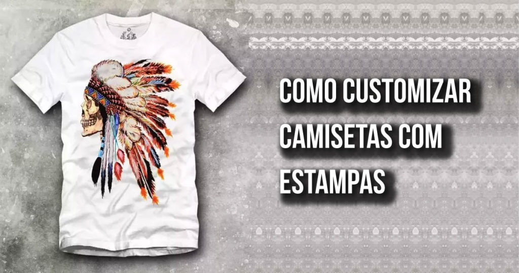Customizar camisetas com estampas