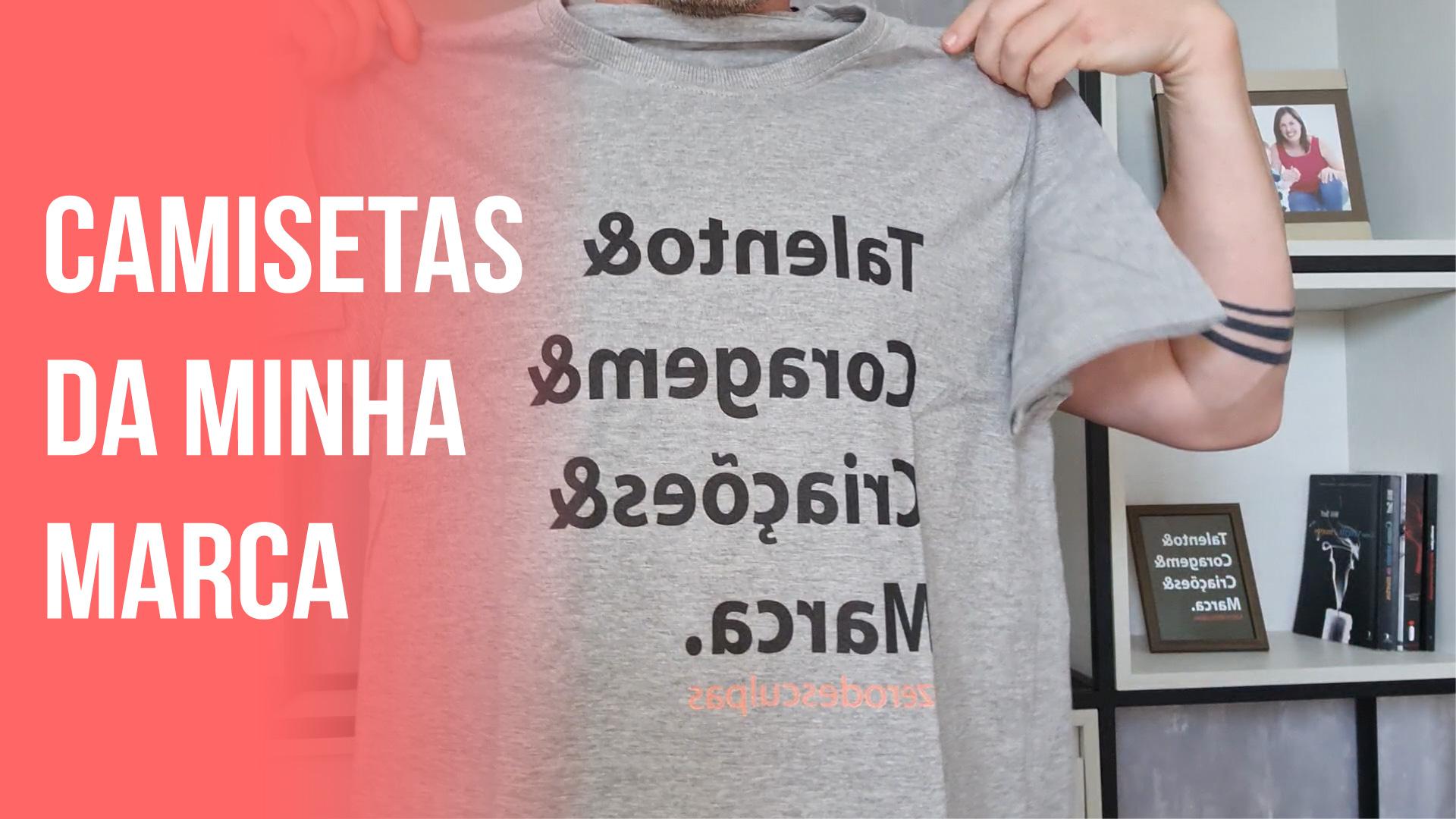 Novas camisetas da minha marca chegaram
